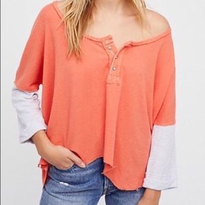 NEW Free People We The Free Star Henley Top Size S